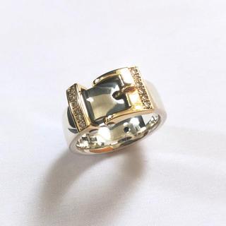 プエルタデルソル(PUERTA DEL SOL)の美品PUERTA DEL SOLベルトモチーフ リング ゴールド×シルバー(リング(指輪))