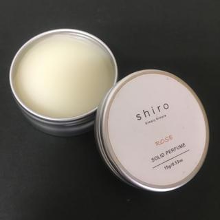 shiro - 未使用品 shiro ソリッドパフューム ローズ シロ 練り香水