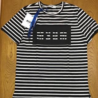 エムエスジイエム(MSGM)の定価半額‼️MSGM ボーダーロゴTシャツ(Tシャツ/カットソー(半袖/袖なし))