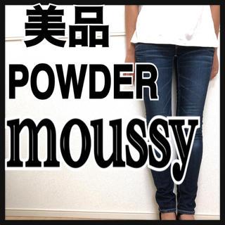 マウジー(moussy)のmoussy パウダーデニム スキニー ジーンズ 24 マウジー スリム(スキニーパンツ)