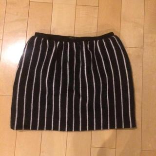 ドゥロワー(Drawer)のドゥロワーDrawer シャギーストライプスカート インスタグラム人気 (ひざ丈スカート)