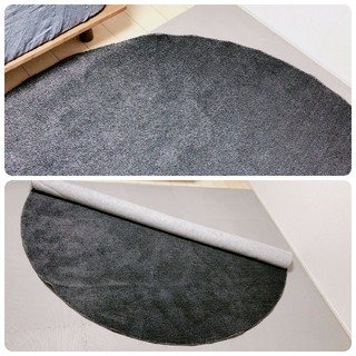 MUJI (無印良品) - 《美品》無印良品 ポリエステルカットパイルラグラグ 絨毯 カーペット