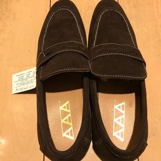 トリプルエー(AAA)のビジネスシューズ ローファー ダークブラウンカラー 26.5cm 新品・未使用品(ドレス/ビジネス)