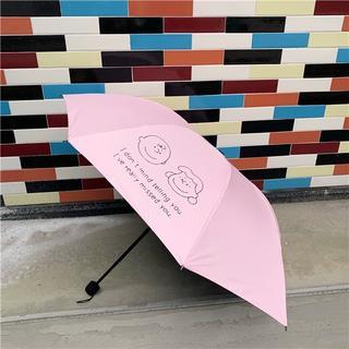 スヌーピー(SNOOPY)の折りたたみ傘 チャーリーブラウン ルーシー かさ スヌーピー  ピンク(傘)