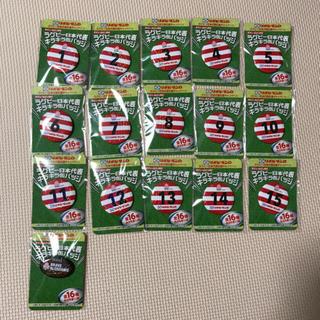 ラグビー 日本代表 缶バッチ 全16種 コンプリート