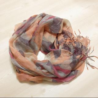 アトリエドゥサボン(l'atelier du savon)の華やか 花柄ストール(ストール/パシュミナ)