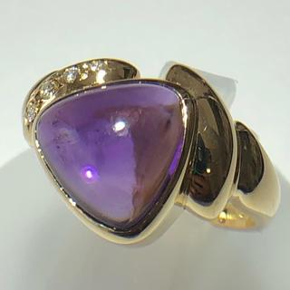 タサキ(TASAKI)のTASAKI リング 田崎 指輪 アメジスト ダイヤモンド k18yg タサキ(リング(指輪))