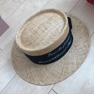 ドゥロワー(Drawer)のシャポードオー☆カンカン帽子☆美品(麦わら帽子/ストローハット)