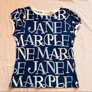 ジェーンマープル(JaneMarple)のジェーンマープル JaneMarple ブランドロゴカットソー ブルー 青(カットソー(半袖/袖なし))