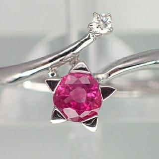 K18WGルビー&ダイヤモンドリング 新品未使用(リング(指輪))