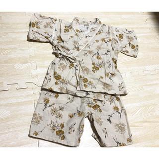 フタフタ(futafuta)のテータテート︎︎☁︎︎花柄甚平 95cm(甚平/浴衣)