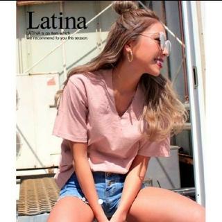 アナップラティーナ(ANAP Latina)のANAP Latina Vネック クラッシュ ダメージ Tシャツ(Tシャツ(半袖/袖なし))