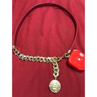 クリスチャンディオール(Christian Dior)のディオール  75  赤ベルト  レア(ベルト)