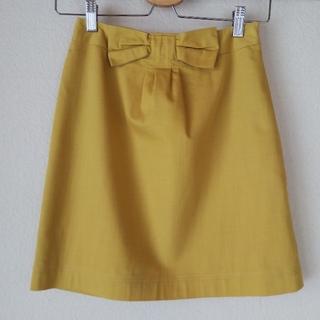 ★allureville★ミニ スカート Aライン★サイズ 01★34 イエロー(ミニスカート)