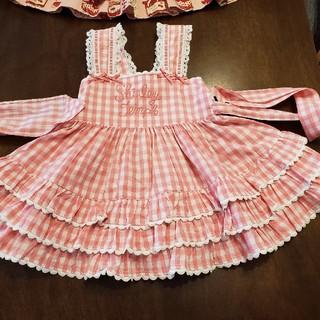 Shirley Temple - シャーリーテンプル☆ギンガムチェックジャンパースカート☆90