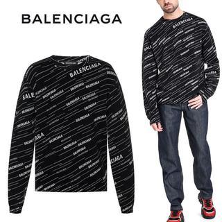 バレンシアガ(Balenciaga)の【3】BALENCIAGA 新品本物 19ss ブラック クルーネック ニットM(ニット/セーター)