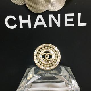 シャネル(CHANEL)の正規品 シャネル 指輪 ゴールド ココマーク 丸 ストーン パール 金 真珠 石(リング(指輪))