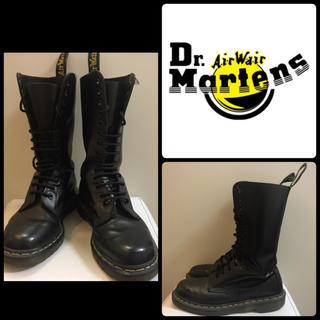 Dr.Martens - ドクターマーチン ブラックレザー 14ホール ブーツ