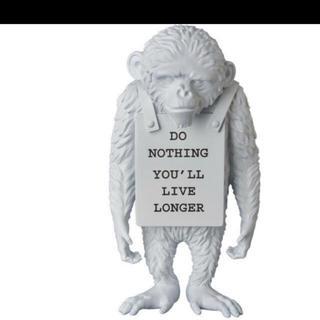 MEDICOM TOY - 送料込 monkey sign 白 モンキーサイン banksy バンクシー