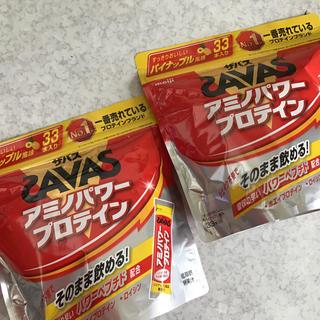 ザバス(SAVAS)のザバス アミノパワープロテイン パイナップル風味33本入り×2袋 ¥10000(プロテイン)