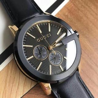 Gucci - Original.G ucci、グッチのポスターモデルのクオーツ時計、ブラック