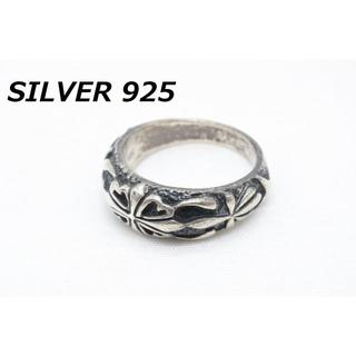 P-799 シルバー 925 指輪 リング 16号相当 クロス 十字架 デザイン(リング(指輪))