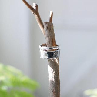 エテ(ete)の【新品未使用】TEN. シルバー925ダブルリング 13号(リング(指輪))