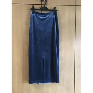 アメリヴィンテージ(Ameri VINTAGE)のameri ベロアタイトスカート(ひざ丈スカート)
