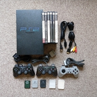 PlayStation2 - PS2本体(play station 2) + ソフト6本 SCPH-30000