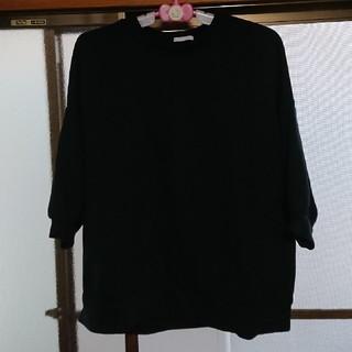 ジーユー(GU)のGU 五分袖スウェット  試着のみ(カットソー(半袖/袖なし))