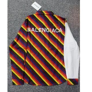 バレンシアガ(Balenciaga)のバレンシアガ シャツ 虹 個性的 XL(シャツ)
