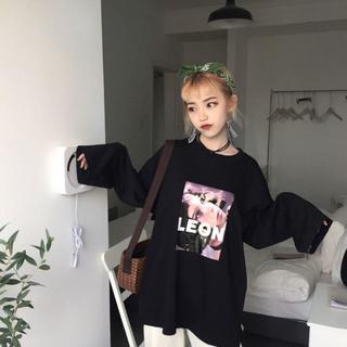LEON レオン マチルダ ロンT L ブラック(Tシャツ(長袖/七分))