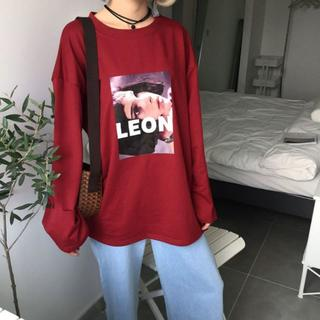 LEON レオン マチルダ ロンT L バーガンディー(Tシャツ(長袖/七分))