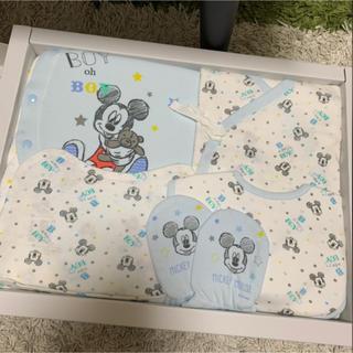 Disney - 新品未使用 ディズニー ミッキー 新生児用帽子 ミトン スタイ
