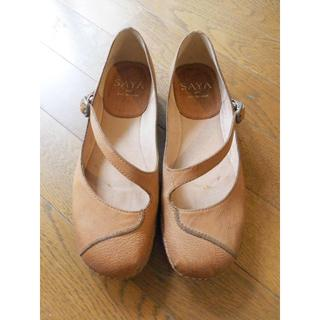 サヤ(SAYA)のsaya ストラップシューズ 革靴 23cm(ローファー/革靴)