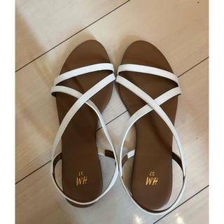 エイチアンドエム(H&M)の美品 H&M レディース フラット サンダル(サンダル)