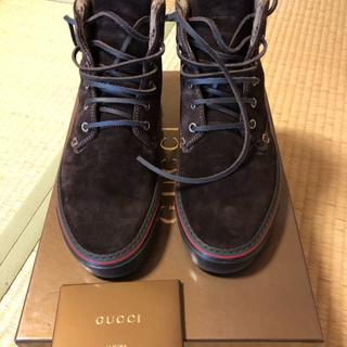 グッチ(Gucci)の日本未発売 グッチ スエード シューズ 7 1/2(ブーツ)