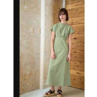 アメリヴィンテージ(Ameri VINTAGE)のMEER. High neck tuck dress(ロングワンピース/マキシワンピース)