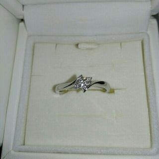 ヨンドシー(4℃)の4°C K18 ダイヤモンド リング 10号(リング(指輪))