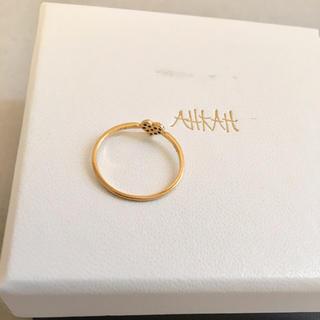 アーカー(AHKAH)のAHKAH ハートパヴェリング アーカー(リング(指輪))
