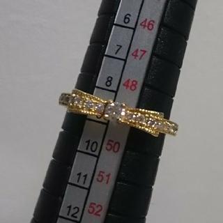 【定価6.8万】avaron K18 ダイヤリボンリング(リング(指輪))