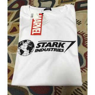 マーベル(MARVEL)のTシャツ スタークインダストリーズ Mサイズ 白(Tシャツ/カットソー(半袖/袖なし))