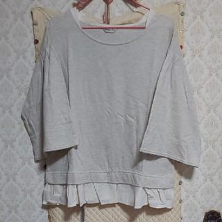 サマンサモスモス(SM2)の布帛裾別布フリルプルオーバー(カットソー(長袖/七分))
