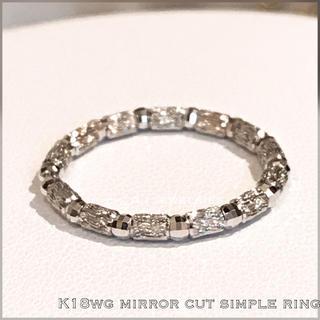リング 18金 ホワイトゴールド k18 WG シンプル リング キラキラ (リング(指輪))