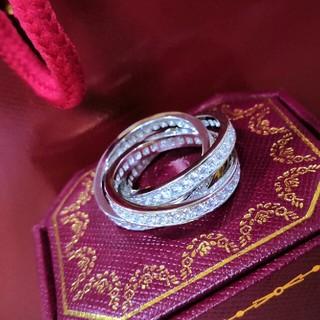 カルティエ(Cartier)のCartier リング(指輪)) シルバー Au750 正規品 美品! (リング(指輪))