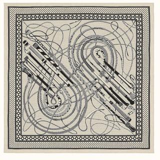 Hermes - 今季 バンダナ カシシル 140×140 ナチュラル 新品
