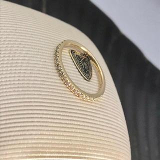 アガット(agete)のアガット ハーフエタニティ ダイヤリング  K18 0.2ct(リング(指輪))