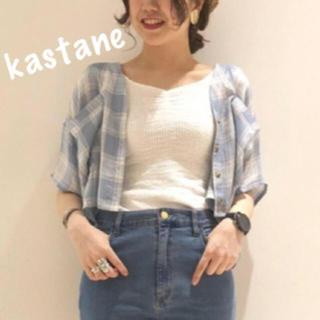 カスタネ(Kastane)のチェックシャツ(シャツ/ブラウス(半袖/袖なし))