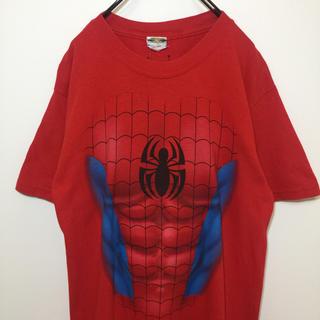 マーベル(MARVEL)のSPIDER-MAN スパイダーマン なりきり 半袖 Tシャツ プリント 古着(Tシャツ/カットソー(半袖/袖なし))