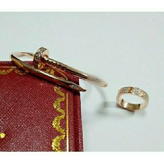 【T様 ご専用】ビス パヴェリング アンクルリング ローズゴールドカラー セット(リング(指輪))
